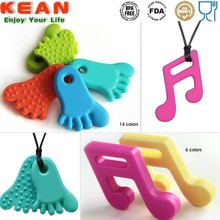 silicon pendant teether free bpa/baby chew toy/baby toothbrush teether