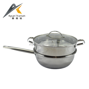 Best selling step and rolled edgr 2 layer stainless steel couscous steamer pot