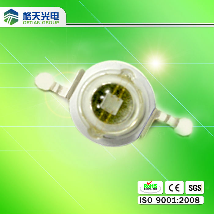 515-535nm 1w high power led diode in green color