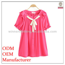 Hot selling fashion ladies blouse neck models