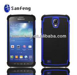 Black on Dark Blue 3in1 Solid Rubberized Case Cover for Samsung Galaxy S4 Active,for Galaxy S4 Active Back Covers