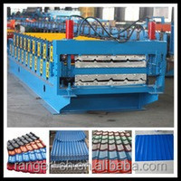 color steel galvanized metal aluminum glazed trapezoidal tile sheet roof wall panel double layer roll forming machine