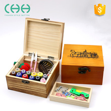 Multi-function needlework storage plastic sewing kit box for home