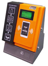 Tap Coin WiFi Hotspot Pay Terminal with metal coin box support sharing WiFi feature with RJ-45 or 3G 4G LTE network