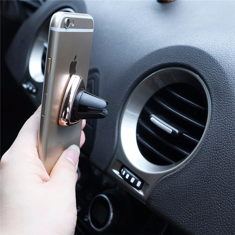 Triangle 360 Mini Magnetic Phone Holder Car Air Vent Mounts Magnet Universal Mobile Phone Holder