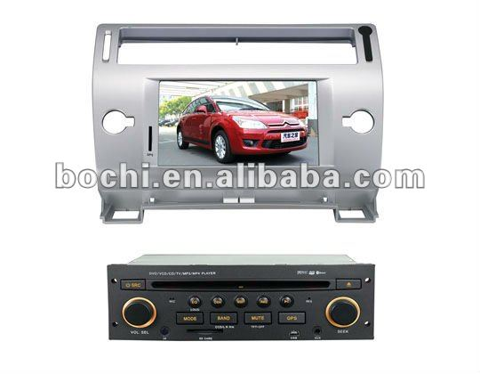 Special Car DVD GPS Vedio player for CITROEN C4/C-Quatre/C-Triumph(2004-2009)