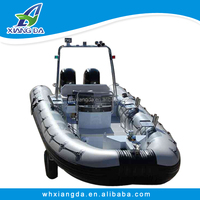 CE Certification and aluminum Hull inflatable tube rubber jet boat