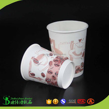 Custom printing 400ml 500ml 750ml Single Wall Paper Cups with lids