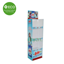 Corrugated Paper Trays Solar Display Stand, Paper Display Stand For Washing Powder
