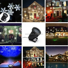 Multi-color Outdoor LED Snowflake Laser Light Show Projection