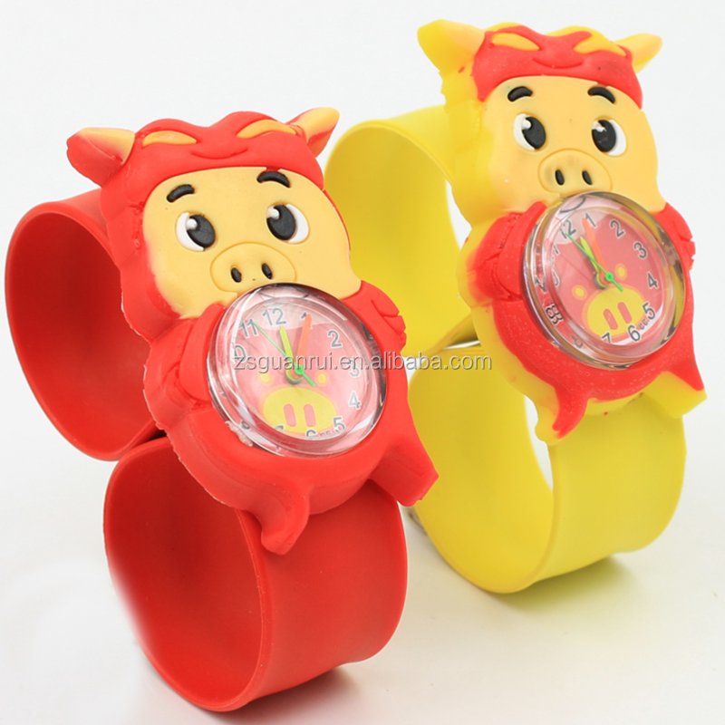 2017 New Fashion Cheap Custom Logo Digital Smart Kids Silicone Slap Wrist Watch For Wholesale