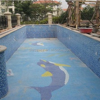 Alibaba China Foshan swimming pool tile ceramic mosaic dolphin pattern
