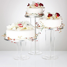 Clear Party Birthday Bakery Cake Tower Display Acrylic Cupcake Stand For Wedding