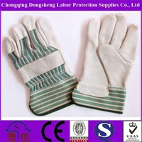 Gray color split leather safety Work Gloves Industrial Leather Hand Gloves