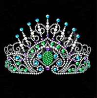 hotfix rhinestone flatback crown sticker on women clothing decoration