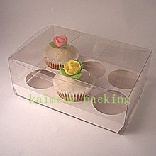 Custom clear plastic cupcake boxes packaging