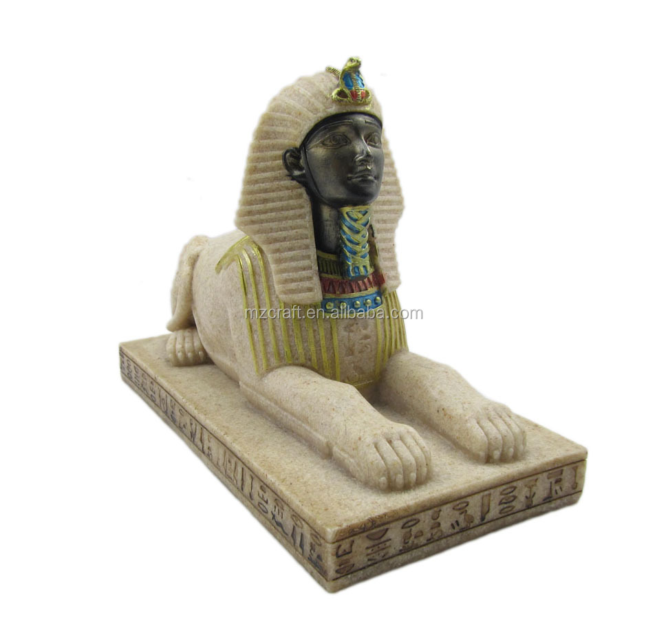 Classical Egypt style sandstone Egyptian sphinx statue for home Aquarium decoration crafts 12077-2
