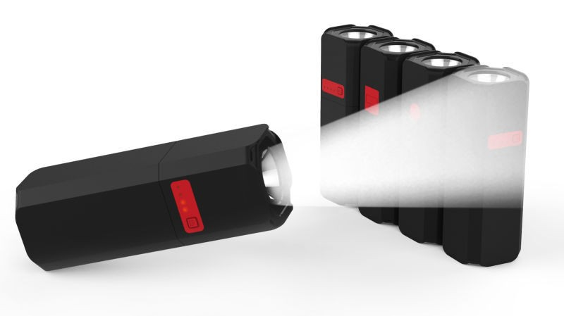 Two in One Strong led flashlight 10400mah power bank