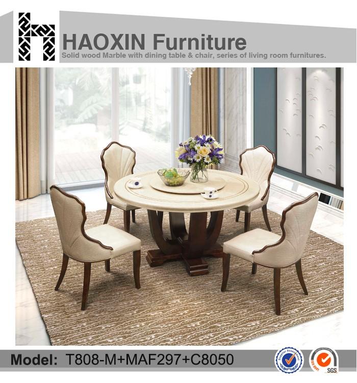 Ronde marmeren eettafel set eetkamer meubels t808 m maf297 c8050 eetkamer sets product id - Meubels set woonkamer eetkamer ...
