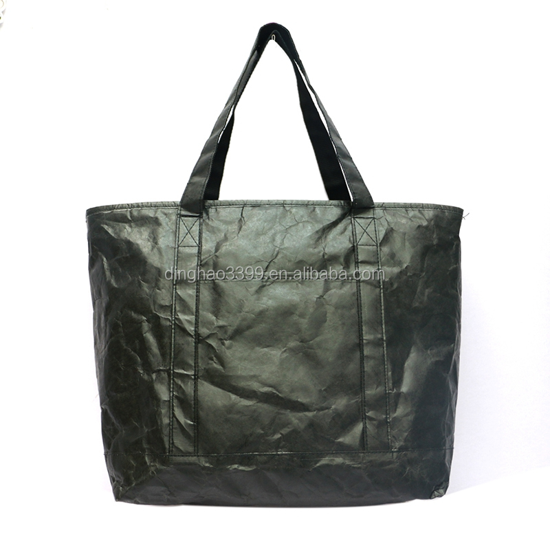 environmental protection black tyvek paper handbag,easy take new customized gift bag