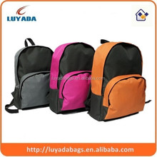 Fashion manufacturing polyester material school bag for teens