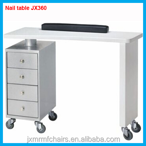 Beauty styling nail table hairdressing nail station table for sale JX360
