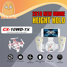 Minitudou Wholesale 2016 Mini quadcopter Cheerson CX-10WD-TX Height Hold WiFi Control Photography Camera Drone