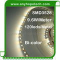 Newest product 9.6W per 5m 3528smd 600leds surface mount flexible led strip