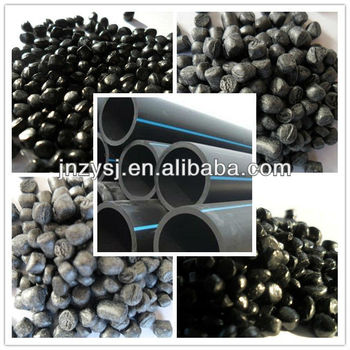 Electricity conductive and anti flaming black mine well pe pipe material