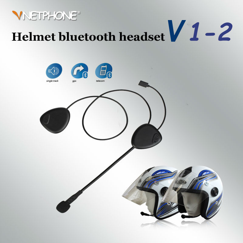 Hot Selling VNETPHONE V1-2 Stereo Motorcycle Accessories Bluetooth Headset for helmet