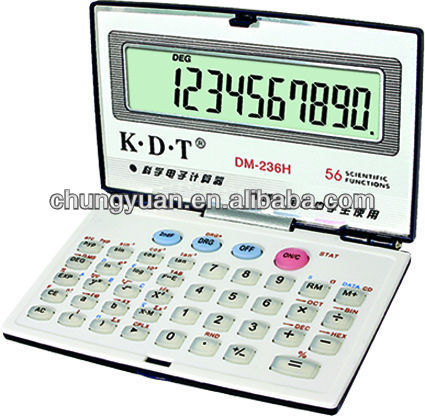 hollow section weight solar calculator with cover DT-236H