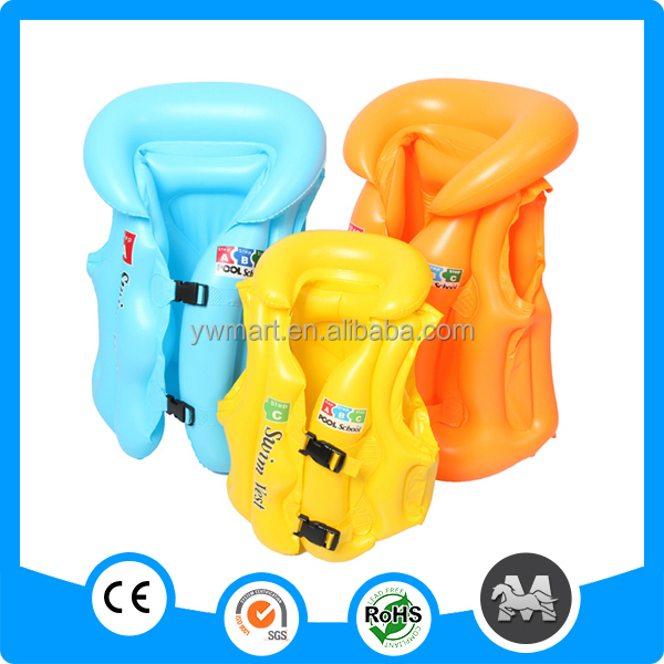 Inflatable life vest,infatabe swim vest, inflatable swimming life jacket for kid