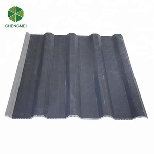 Recycled PVC plastic hollow roof shingle tile