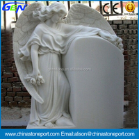 Low Cost Natural White Marble Carving Tombstone & Headstone