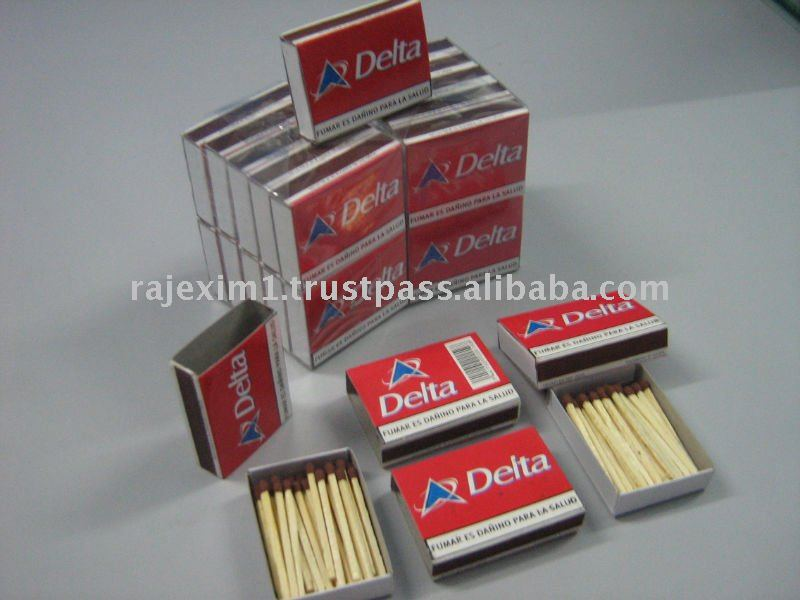 wooden sticks match box