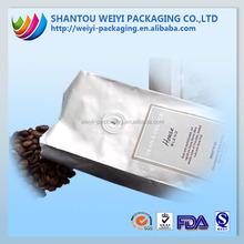 popular durable non woven material 3 sides sealed custom food packaging for coffee with valve