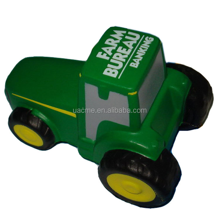 Top selling products 2017 new PU foam tractor truck stress ball promotional gift