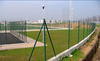 painted green security wire mesh fence