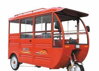 red electric tricycle,red tuktuk,three wheel motorcycle, tricycle, autorickshaw, three wheeler,red car