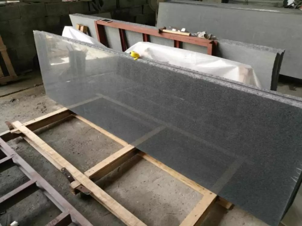 Dark grey G654 granite polished slabs G654 granite countertop G654 granite tiles