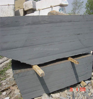 flamed finish tile Chinese mongolia black granite for sale