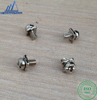 Cheese head phillips slotted screw with square washer
