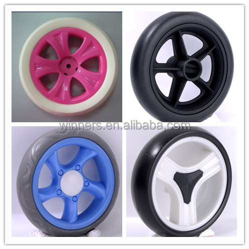 6 baby bicycle stroller wheels plastic 6 inch