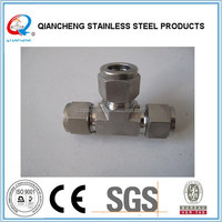 stainless steel Compression Fitting, 3 Way Pipe Connector