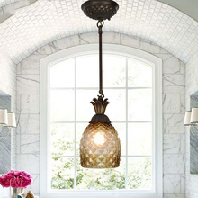 Modern European-Style Restaurant Bowl Shade Glass Pendant Lamp