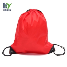 Factory promotion custom printed waterproof recycle foldable polyester drawstring bag