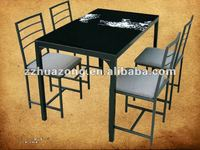 tempered glass top 5 pieced dining room set