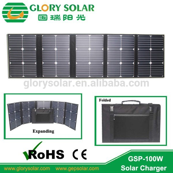 Customized solar panel for power system portable pv solar module 100 watt for picnic