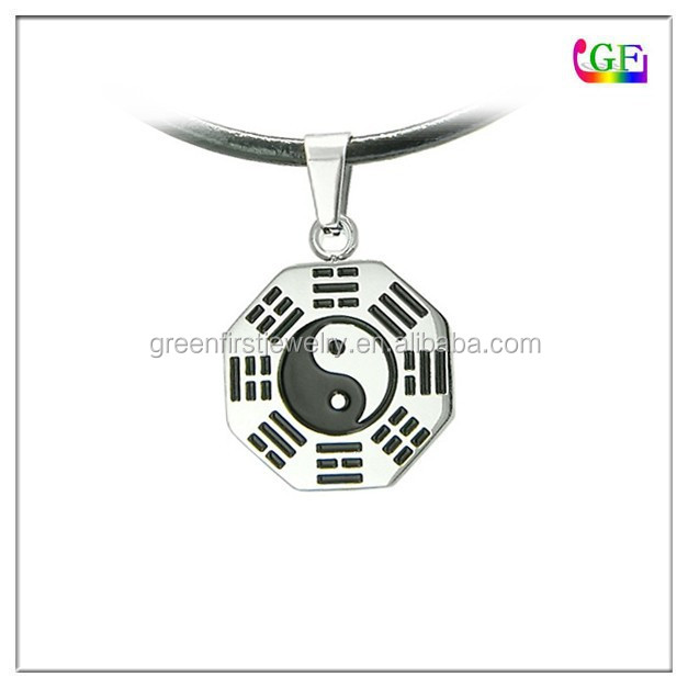 Amulet Yin Yang Eight Trigrams Lucky Charm Pendant Necklace