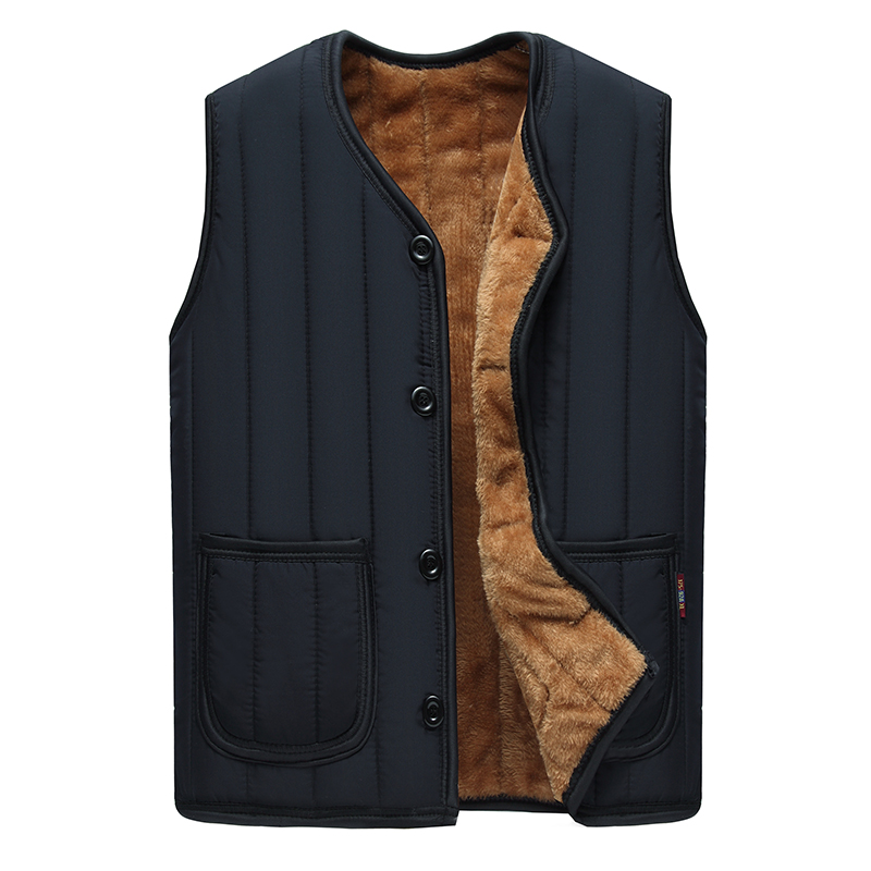 2018 Latest Design Cheap Velvet Lined Men's Padded Waistcoat Vest